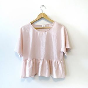 Wilfred Ruffled Pink Blouse ✨